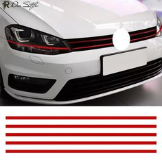 Car Strip Sticker Reflective Stickers Front Hood Grille Price: $ 5.00 & FREE Shipping #darstyles