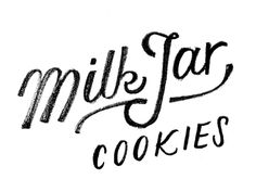 Milk Jar Cookies logo sketch by This Paper Ship it looks like it has been written with a crayon Typography Love, Typo Logo, Typography Letters, Types Of Lettering, Script Lettering, Lettering Design, Calligraphy, Graphic Design Fonts, Graphic Design Inspiration