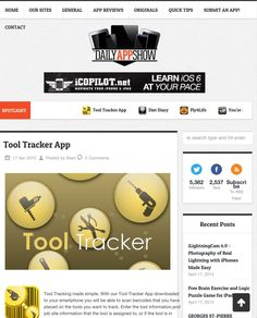 Tool Tracker App featured on Daily App Show