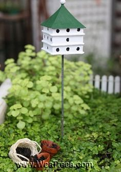 fairy garden bird house