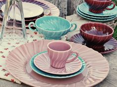 This is Grandma and Mom's Dinnerware - I have mostly white and a few pink - love the blue - had no idea!Franciscan ware