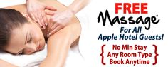 Free massage for all Apple Hotel Guests!