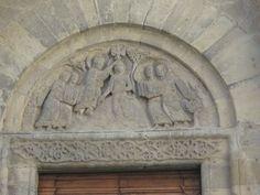 Arezzo Santa Maria della Pieve, la facciata particolare delle lunette, Anelami