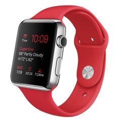 cb41ee62464 Apple Watch - Caixa de 42 mm de aço inoxidável com pulseira esportiva  (PRODUCT). PulseirasRelógio ...