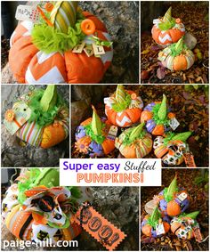 Super Easy Fabric Pumpkins~
