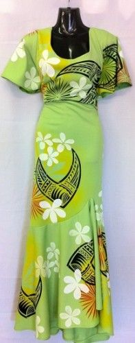 as soon as i lose my stomach. i'm makin' this dress for me heehee! Island Wear, Island Outfit, Samoan Dress, Island Clothing, Polynesian Designs, Pretty Green, Tahiti, Special Occasion Dresses, Dress Patterns