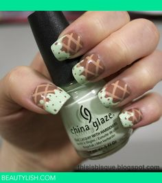 Mint Chocolate Chip Ice Cream Nails | Bisque R.'s (Bisque) Photo | Beautylish