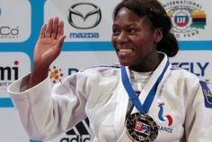 clarisse-agbegnenou-la-championne-du-monde-de-judo  d'origine togolaise évoluant en moins de 63 kg