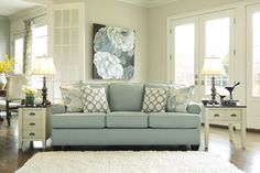Daystar Contemporary Seafoam Fabric Sofa | Living Rooms | The Classy Home | Best Deal Furniture
