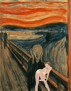 The Scream + sad attention seeking Miley! Art has finally come together in its purest forms!!