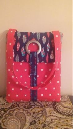 Made by Amy from the So Sew Easy tech or tablet tote bag pattern
