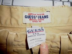 Clothing Tags, Guess Jeans, Jeans Style, Reusable Tote Bags, Mint, Classic, Cotton, Gold, Ebay