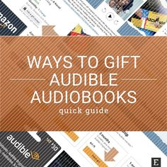 Is there an Audible lover in your life? Gifting an audiobook is easier than you think – and you have several ways to do it 🔖 Amazon Online, Amazon Gifts, Change, Book Recommendations, Book Lovers, Audio Books, Infographic, Ebooks, How To Plan