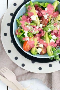 bunter salat mit orangendressing die jungs kochen und backen der foodblog aus k ln blogger. Black Bedroom Furniture Sets. Home Design Ideas