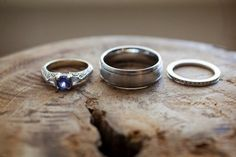Rustic Chic Ski Lodge Wedding Gingham, Navy, Red, Slate Gray, Maroon Wedding Rings