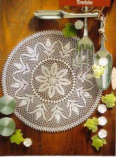 Lace Crochet mat, no pattern but would love to find it. Crochet Mat, Crochet Doily Diagram, Crochet Flower Patterns, Crochet Home, Thread Crochet, Filet Crochet, Crochet Crafts, Crochet Projects, Unique Crochet