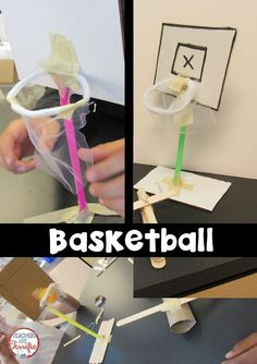 STEM Challenge: Build a basketball goal and a way to propel the ball!
