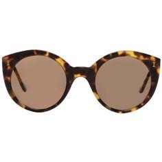 Illesteva Palm Beach Tortoise Sunglasses ($240) ❤ liked on Polyvore featuring accessories, eyewear, sunglasses, brown, tortoiseshell glasses, illesteva sunglasses, tortoise shell cat eye sunglasses, palm tree glasses and tortoise cat eye sunglasses
