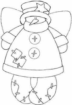 making snow angels coloring pages | Rustic Country Style Snowman Clipart Picture | Crafts ...