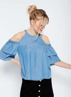 Pinterest Cold Shoulder, Shoulder Tops, Miss Selfridge, Asos, Denim, Collection, Shopping, Archive, Women