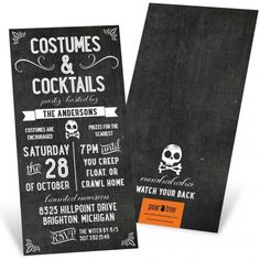 14 Haunting Halloween Party Invitations via Brit + Co