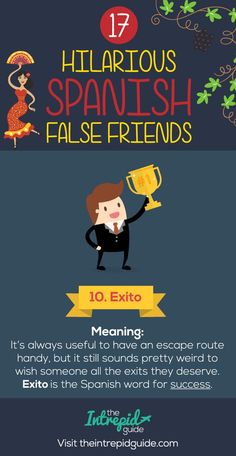 False Friends in Spanish False cognates - Exito