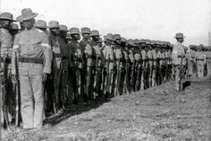 February 1899 – Filipino forces led by General Antonio Luna launch counterattacks for the first time against the American forces during the Philippine–American War. The Filipinos fail to regain Manila from the Americans. American War, American Soldiers, American History, Philippine Army, Philippines Cebu, New York Tours, Jim Crow, Rough Riders, Black History Month