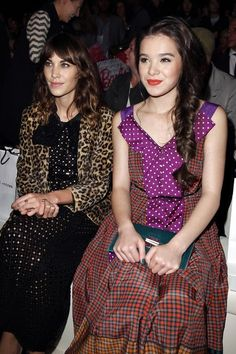 Alexa Chung & Hailee Steinfeld at the SS13 Collection Show
