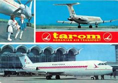 TAROM AIRLINE ISSUE MULTI IMAGE POSTCARD