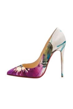 Fall 2014 Christian Louboutin I really feel like I can paint this myself on a pair of white satin pumps but that heel! I need it and can't find it anywhere else. Yet.