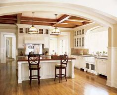 Like the arch from kitchen to great room