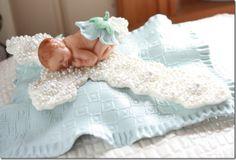 Daniels Dåp del 2 – Dåpskake; putekake med kors, baby, bilde og stash ♥ - ToneroseDesign