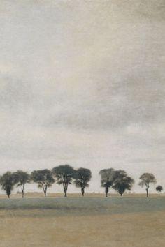 Paysag Royal Road Gentofte - Vilhelm Hammershøi