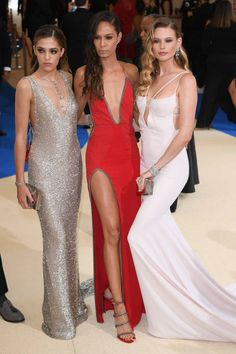 Chloe Bennet Joan Smalls and Behati Prinsloo and attend 'Rei Kawakubo/Comme des Garcons Art Of The InBetween' Costume Institute Gala Arrivals at...