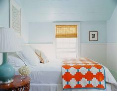 Matters of Style: Beachy Bedrooms - Turquoise & Touch of Orange