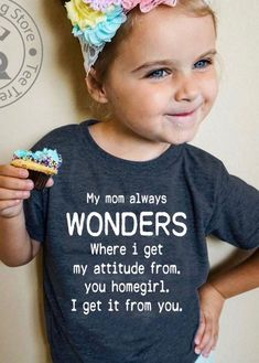 69 trendy baby girl quotes and sayings funny children Cute Kids, Cute Babies, Baby Kids, Baby Baby, Vinyl Shirts, Funny Shirts, Custom Shirts, Fashion Kids, Fashion Fall