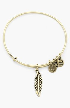 Alex and Ani 'Feather' Expandable Wire Bangle | Nordstrom