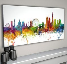 london skyline cityscape #two by artpause   notonthehighstreet.com