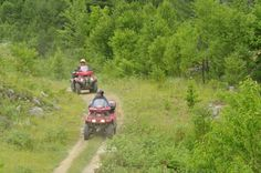ATVing adventures in Algoma, Northern Ontario. Guided tours through rugged backcountry trails, bike-in fishing trips, full service resorts. Outdoor Adventures, Tour Guide, Ontario, Canada, Tours, Bike, Country, Bicycle Kick, Rural Area