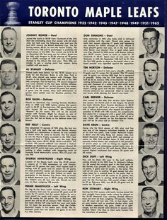 Toronto Maple Leaf - Stanley Cup champions (1962-63)