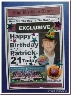 Newspaper Card Aston Villa Happy Birthday Patrick, Aston Villa, Football Fans, Newspaper, Baseball Cards, Soccer, Ideas, Style, Swag