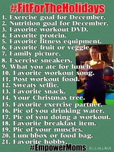 #FitForTheHolidays >>Free Instagram Challenge with #EmpowerMoms!