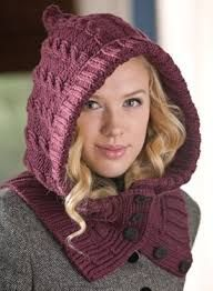 Through the Woods Hooded Neck Warmer   Cuffs - Knitting Patterns by Kalurah  Hudson -- wear it under a jacket 2cf51ffa97