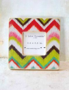 mondovi ikat frame  Natalie we could DIY this with fabric and modge podge!