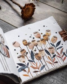 I know Im not the only who loves earthy colours For this painting Inga. Pen And Watercolor, Watercolor Illustration, Watercolor Paintings, Watercolours, Bullet Journal Art, Art Journal Pages, Cute Sketches, Simple Art, Doodle Art