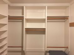 Our master walk-in closet was all white wire shelves. It's not only lack of space for hanging cloth, but also lack of storage we really need. So we wanted to design and build a couple of three cabinet build in units for two sides to solve the problem. We checked out the home center pre-build units, they are not very budget friendly, plus they are made from particle boards - not our favorite. So we decided to build our own from scratch.