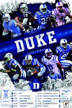 2012 Duke Football Poster