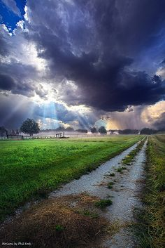 Along The Way By Phil Koch ✪ muddy puddles track lane storm raining clouds sky Beautiful Roads, Beautiful Sky, Beautiful Landscapes, Beautiful World, Beautiful Places, Beautiful Pictures, Landscape Photos, Landscape Photography, Nature Photography