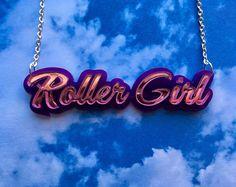 Roller Girl Roller Derby Laser Cut Acrylic Statement 16 Inch