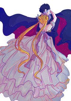 Usagi x Mamoru ♡ Sailor Moon and Tuxedo Mask / Princess Serenity and Prince Endymion   Sailor Moon - Sailor Moon Crystal #SM #SMC #Anime #Manga  ☆あけましておめでとうございます!セラムン詰め! by 星愛